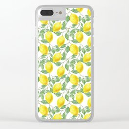 Lemon Time Clear iPhone Case