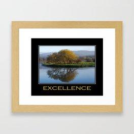 Inspirational Excellence Framed Art Print