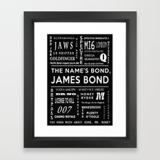 Bond in Black Framed Art Print