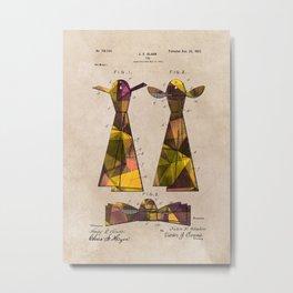 patent Tie - 1902 - Glahn Metal Print