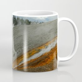 Thermal Geyser Runoff Into Firehole River Coffee Mug