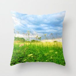 Summer Country Scene Throw Pillow