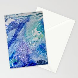 Water Scarab Fossil Under the Ocean, Environmental Stationery Cards