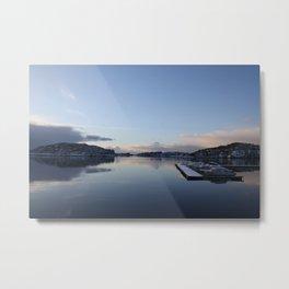 Norwegian Nature -Water I Metal Print