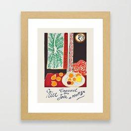Nice - French travel poster by Henri Matisse, 1947 Framed Art Print