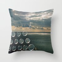 typo Throw Pillows featuring typo by Richard PJ Lambert