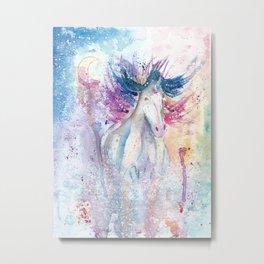 Unicorn Watercolor Art Metal Print