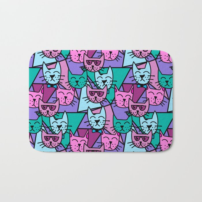 Pop Art Cats Bath Mat