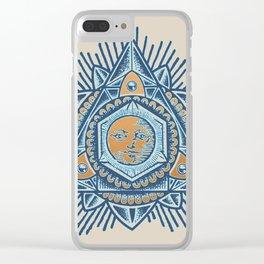 Alyson Sacred Trinity Sun 2 Clear iPhone Case