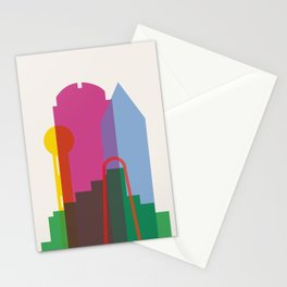 Shapes of Dallas. Accurate to scale. Stationery Cards