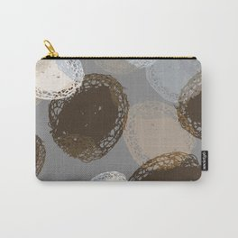 Seed Pods Neutral Color Graphic Pattern Carry-All Pouch