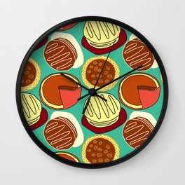 Pie, Blue Green, and Cake Wall Clock