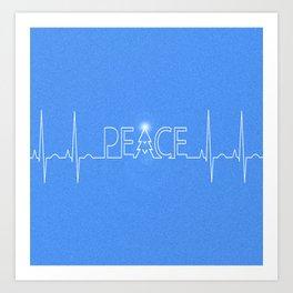 Peace Pulse Christmas Art Print