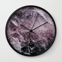 Enigmatic Dark Night Marble #1 #decor #art #society6 Wall Clock