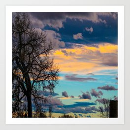 Colorful Colorado Sunset Art Print