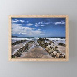 Widemouth Bay Rock Formation Framed Mini Art Print