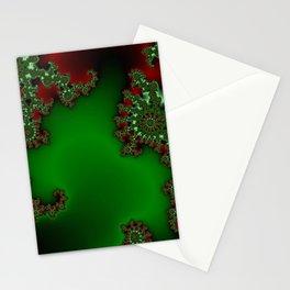 Mandelbrot - Green Stationery Cards