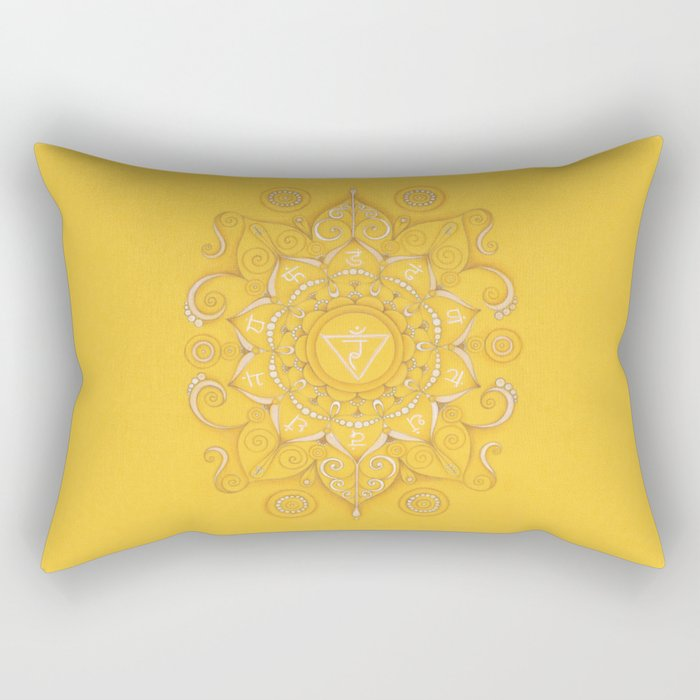 Mandala Chakra Manipura Rectangular Pillow