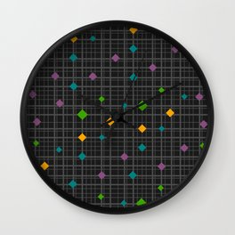 Networks with bright shapes Wall Clock