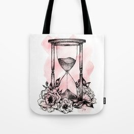 Floral Hourglass Tote Bag