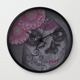 Dia De Los Muertos - Daisy Wall Clock