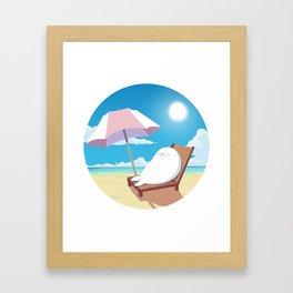 Sealin' on the Beach Framed Art Print