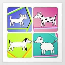 Doggy Chums Art Print