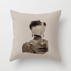FRIDA - SHIRT version - sepia Throw Pillow