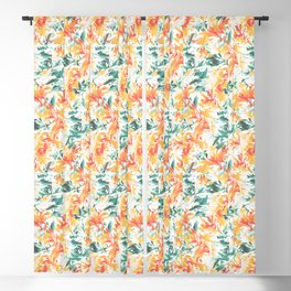 Vintage Abstract Fire Flower Pattern Blackout Curtain