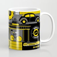 berlin Mugs featuring Berlin by koivo