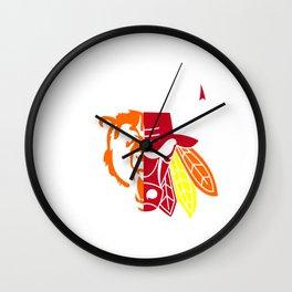 Blackhawks Bulls Wall Clock