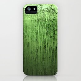 Old green window at night iPhone Case