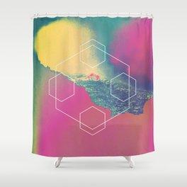 Etna Flows 1983 Shower Curtain