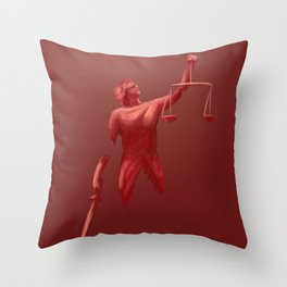 blind justice Throw Pillow