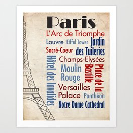 Travel - Paris Art Print