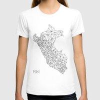 peru T-shirts featuring Mapa Peru by Romivavi