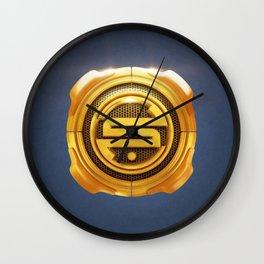 Golden S 3D Emblem Wall Clock