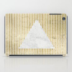 inverse trian gold iPad Case