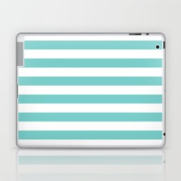 Horizontal Aqua Stripes Laptop & iPad Skin