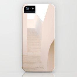 Mediterranean white architecture lines - Villa's Stairway - Stromboli, Italy - Fine Art Travel Photography iPhone Case
