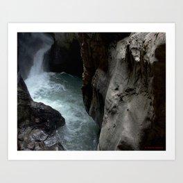 Peering into the Pool of Box Canyon Falls Art Print