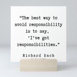 65  | Richard Bach Quotes | 190916 Mini Art Print