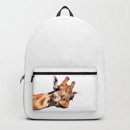 Giraffe portrait Backpack