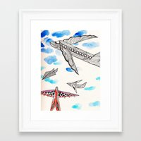 airplane Framed Art Prints featuring Airplane by Beatriz Chamussy