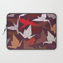 Japanese Origami paper cranes symbol of happiness, luck and longevity, sketch Laptop Sleeve