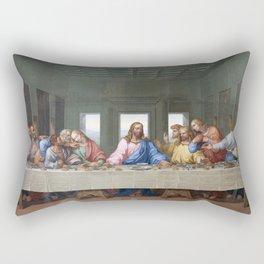 The Last Supper by Leonardo da Vinci Rectangular Pillow