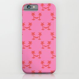 Hammocks Pink Red iPhone Case