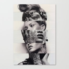 Rhianna the cut-up Canvas Print