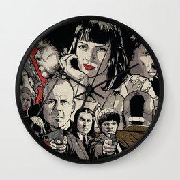 Pulp Fiction Movie Poster - Quentin Tarantino Wall Clock