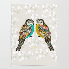 Facing owls Poster